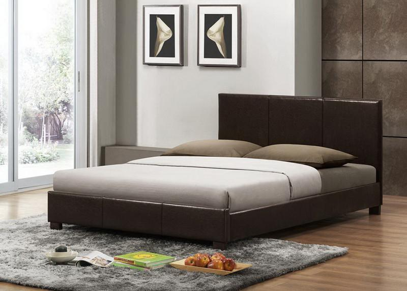 Dark Brown Modern Bed Full Size Each Pless