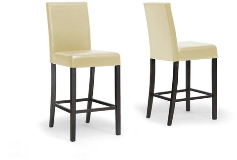 Wholesale Interiors IDD01-BS-Cream (2PC/CTN) Torino Cream Modern Bar Stool - Set of 2 - Peazz.com