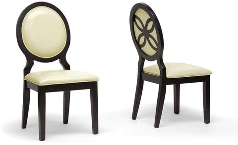 Wholesale Interiors IDD02-DSC-Side Chair Vandegriff Brown and Ivory Modern Dining Chair - Set of 2 - Peazz.com
