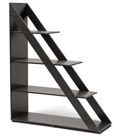 Wholesale Interiors IS-2 Psinta Dark Brown Modern Shelving Unit - Each - Peazz.com