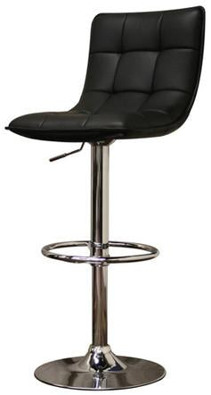Wholesale Interiors M-90057-Black Aleena Black Faux Leather Modern Bar Stool - Set of 2 - Peazz.com