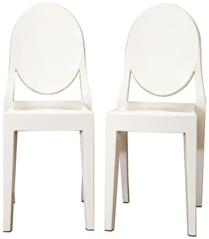 Wholesale Interiors PC-448-Ivory Ivory Acrylic Ghost Chair - Set of 2 - Peazz.com