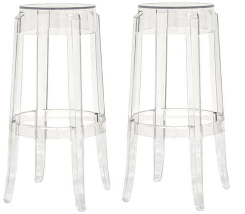 Wholesale Interiors PC-502A-clear Bettino Acrylic Barstool - Set of 2 - Peazz.com
