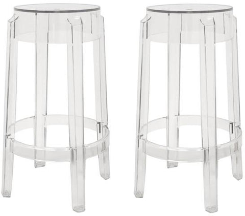 Wholesale Interiors PC-502B-clear Bettino Clear Acrylic Counter Stool - Set of 2 - Peazz.com