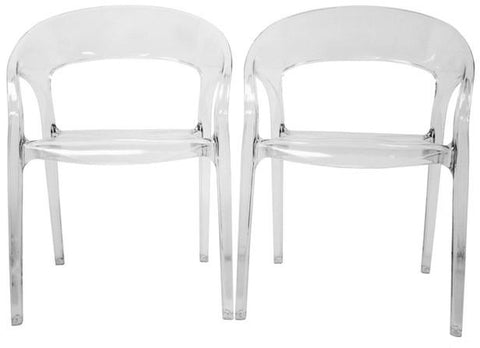 Wholesale Interiors PC-510-Clear Chole Acrylic Clear Chair - Set of 2 - Peazz.com