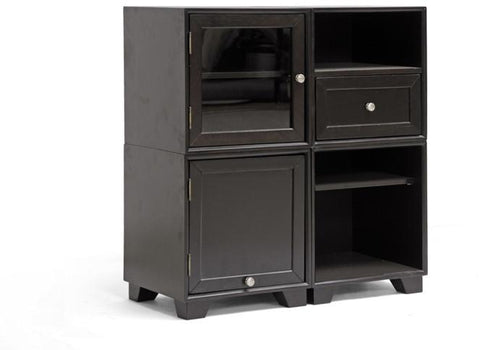Wholesale Interiors RT244-OCC Alaska Dark Brown Modular Storage Cabinet - Each - Peazz.com