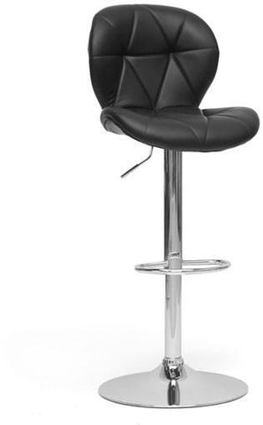 Wholesale Interiors SD-2208-PSTL Warsaw Black Modern Bar Stool - Set of 2 - Peazz.com