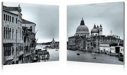 Wholesale Interiors SH-7214AB Timeless Venice Mounted Photography Print Diptych - Each - Peazz.com