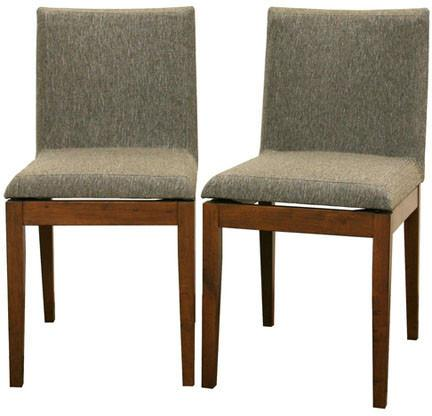 Wholesale Interiors Square Dining Chair-109/670 Moira Brown Modern Dining Chair - Set of 2 - Peazz.com