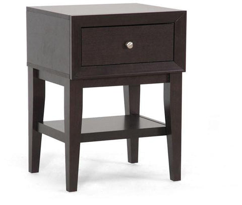 Wholesale Interiors ST-007-AT Gaston Brown Modern Accent Table and Nightstand - Each - Peazz.com