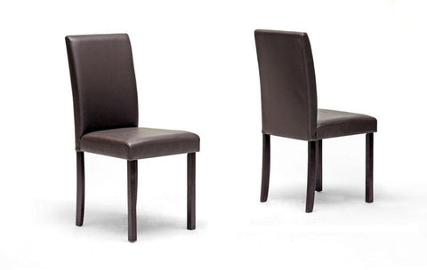 Wholesale Interiors Susan Dining Chair-107/309 Susan Brown Modern Dining Chair - Set of 2 - Peazz.com