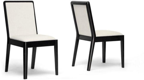 Wholesale Interiors TMH278-DC Maeve Dark Brown and Cream Modern Dining Chair - Set of 2 - Peazz.com