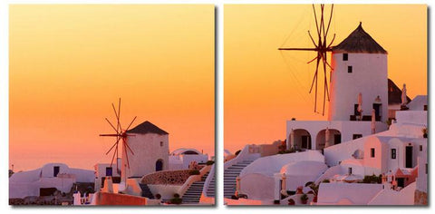 Wholesale Interiors VC-2079AB Grecian Crossroads Mounted Photography Print Diptych - Each - Peazz.com