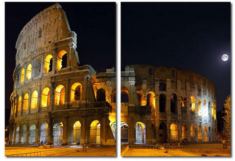 Wholesale Interiors VC-2122AB Illuminated Coliseum Mounted Photography Print Diptych - Each - Peazz.com