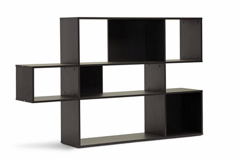 Wholesale Interiors WI4883 (3A) Lanahan Dark Brown 3-Level Modern Display Shelf - Each - Peazz.com