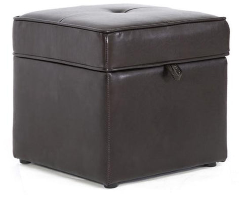 Wholesale Interiors XB-01-dark brown Sydney Brown Modern Ottoman - Storage Ottoman - Each - Peazz.com