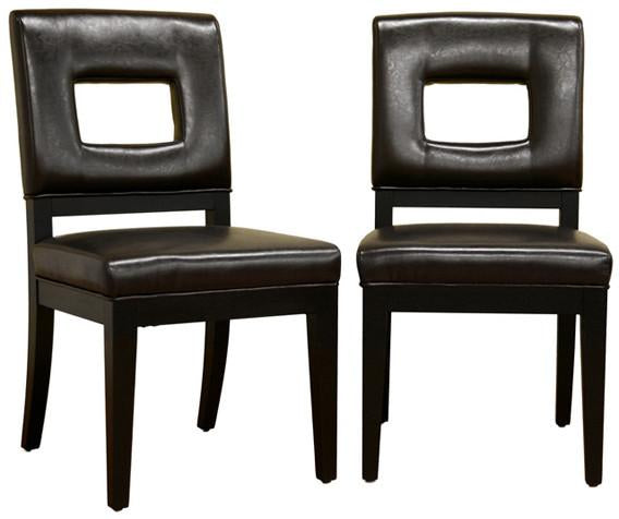 Faustino Dark Brown Leather Dining Chair 4681 Product Photo