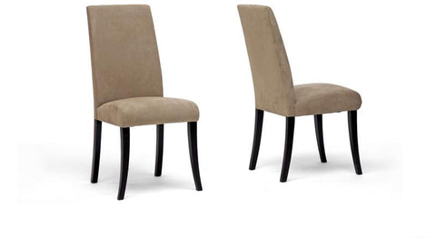 Wholesale Interiors Zen CO27U Dining Chair-Wenge Micro Fiber Dining Chair - Set of 2 - Peazz.com