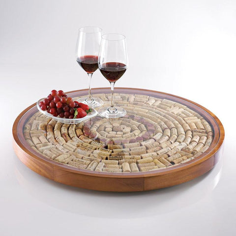 Wine Enthusiast 167 22 Wine Cork Lazy Susan Kit - Peazz.com