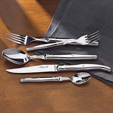 Laguiole 169 70 10 Jean Dubost 5-Piece Flatware Set (Stainless Steel) - Peazz.com