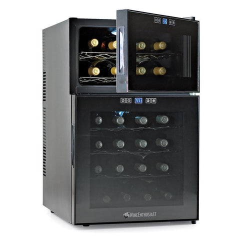 Wine Enthusiast 272 03 24 Silent 24 Bottle Dual Zone Touchscreen Wine Refrigerator - Peazz.com