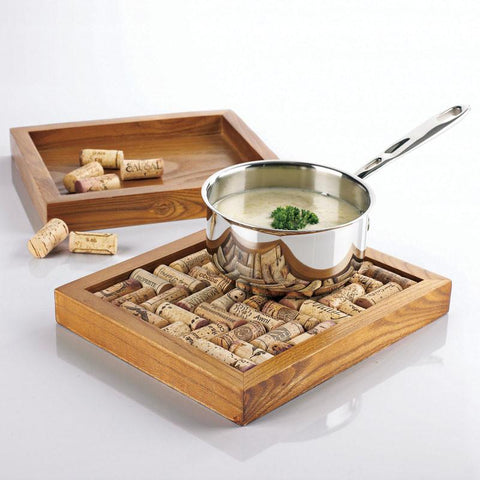 Wine Enthusiast 340 73 01 Wine Cork Trivet Kit - Peazz.com