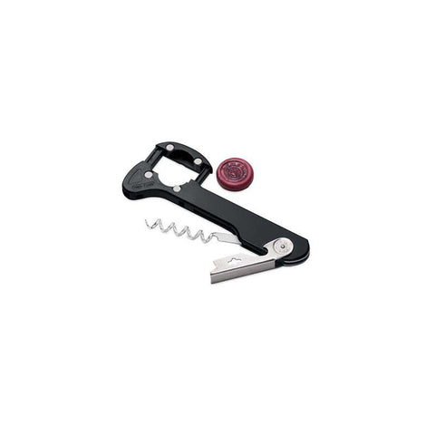 Wine Enthusiast 430 05 01 Retractable Foil Cutter Corkscrew (Black) - Peazz.com