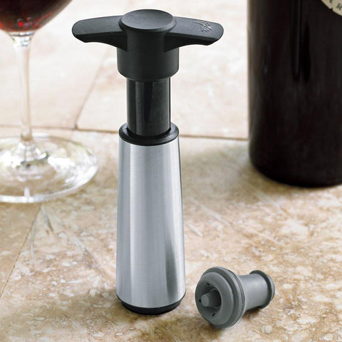 Vacu Vin 484 32 87 Stainless Steel Vacuum Wine Saver - Peazz.com