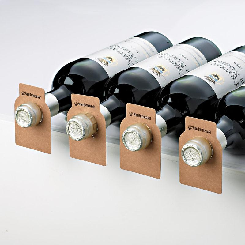 Wine Enthusiast 571 09 01 All-Heart Redwood Bottle Tags (Set of 100)
