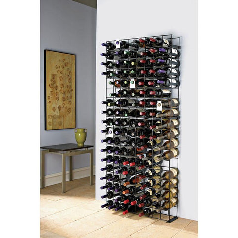 Wine Enthusiast 631 12 01 144 Bottle Black Tie Grid - Peazz.com