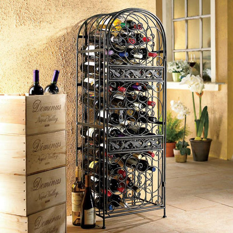 Wine Enthusiast 634 45 Renaissance Wrought Iron Wine Jail - Peazz.com