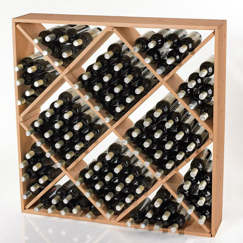 Wine Enthusiast 640 12 03 Jumbo Bin 120 Bottle Wine Rack (Natural) - Peazz.com