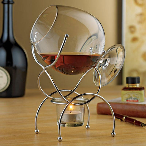 Wine Enthusiast 771 39 01 Brandy Warmer 4-Piece Gift Set - Peazz.com