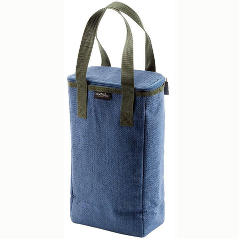 Wine Enthusiast 951 60 01 Capri Insulated Jute Tote Duo (Denim) - Peazz.com