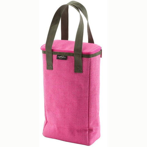 Wine Enthusiast 951 60 02 Capri Insulated Jute Tote Duo (Watermelon) - Peazz.com