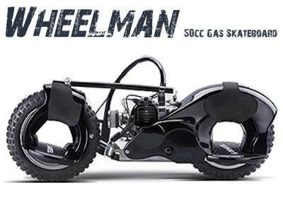 Wheelman 50cc Skateboard Black - Peazz.com