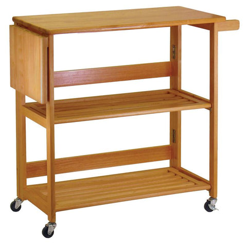 Winsome Wood 34137 Kitchen Cart Foldable - Peazz.com