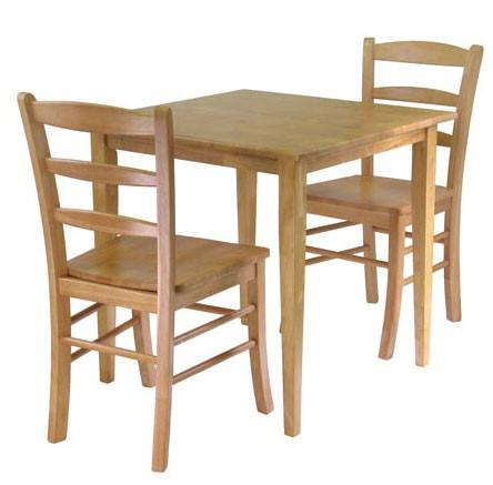 Winsome Wood Groveland 3pc Dining Set, Square Table with 2 Chairs 34330 - Peazz.com