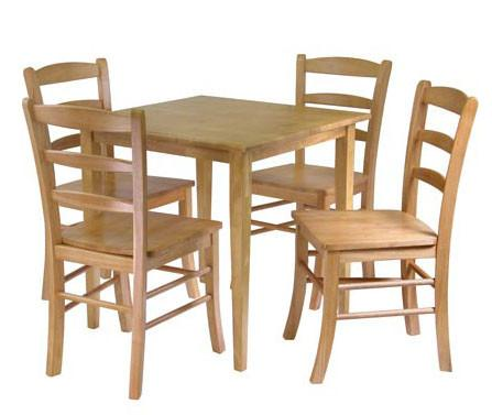 Winsome Wood Groveland 5-pc Dining Table with 4 Chairs 34530 - Peazz.com