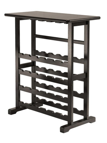 Winsome Wood 92023 Vinny Wine Rack, 24-Bottle with Glass Hanger - Peazz.com