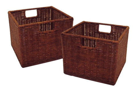 Winsome Wood 92211 Leo Set of 2, Wired Basket, Small - Peazz.com