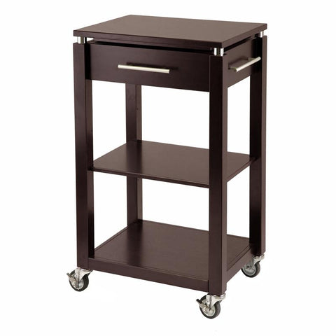 Winsome Wood 92718 Linea Kitchen Cart with Chrome Accent - Peazz.com