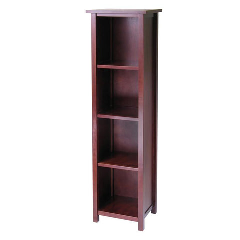 Winsome Wood 94416 Milan Storage Shelf or Bookcase 5-Tier, Tall - Peazz.com