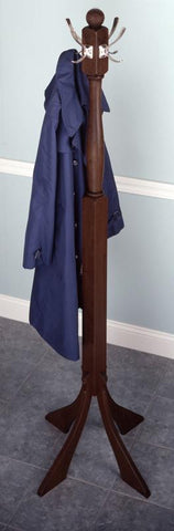 Winsome Wood 94474 Coat Tree with Nickel Hooks - Peazz.com