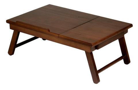 Winsome Wood 94623 Alden Lap Desk, Flip Top with Drawer, Foldable Legs - Peazz.com