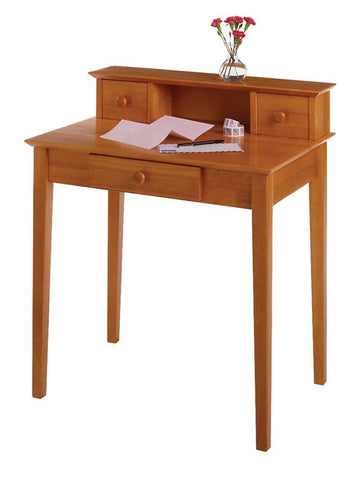 Winsome Wood 99333 Studio Writing Desk with Hutch - Peazz.com