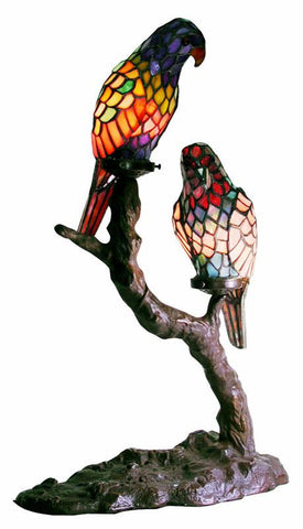 Tiffany Style Exotic Birds Accent Lamp by Warehouse of Tiffany 1600x2+BB449 - Peazz.com