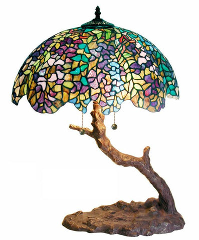 Tiffany Style Tree Lamp by Warehouse of Tiffany 1686+BB449 - Peazz.com