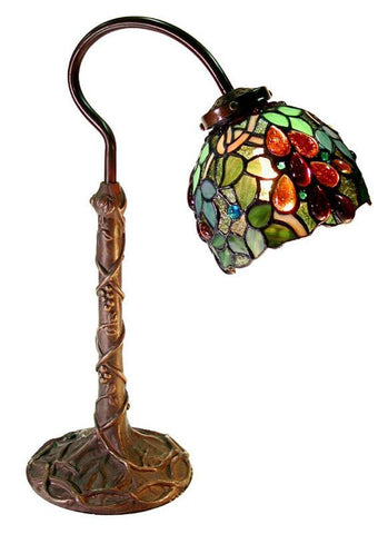 Tiffany Style Grape Desk Lamp by Warehouse of Tiffany 2312+BB632 - Peazz.com