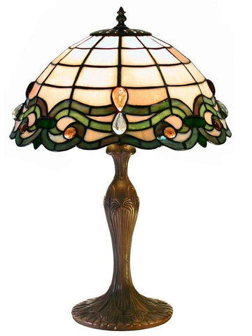 Tiffany Style Simple Table Lamp by Warehouse of Tiffany 2464+MB09 - Peazz.com